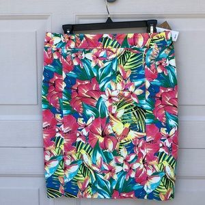 LOFT PENCIL SKIRT Sz 6 TROPICAL PRINT NEW W/TAGS